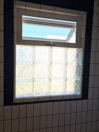 Glass Block Designs For Bathrooms by Black And White Bathroom Remodel Glass Block With Awning Window