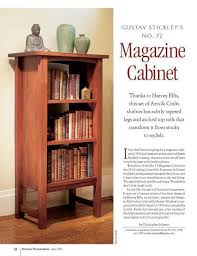 Stickley Bookcase For Sale Gustav Stickley U0027s No 72 Magazine Cabinet Shopwoodworking