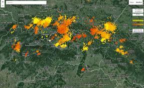 Lightning Maps Interaktívna Mapa Bleskov Zabaví Viac Ako Google Earth