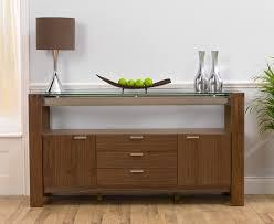 Walnut Sideboard Rochelle Walnut U0026 Glass Sideboard Oak Furniture Solutions