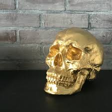 any color xl skull sculpture faux human skull replica faux