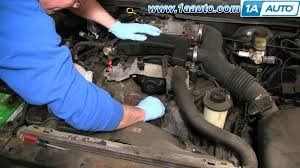 how to install repair replace alternator lincoln town car 4 6l 98