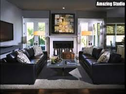 black leather living room living room decorating ideas black leather couch youtube