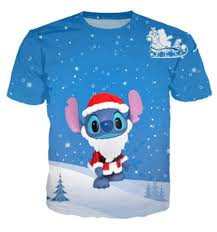 online shop summer style christmas stitch and lilo blue print 3d t