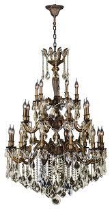 Bronze And Crystal Chandeliers Versailles 25 Light Antique Bronze Finish U0026 Crystal Chandelier 36