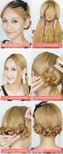 easy steps for hairstyles for medium length hair hair braided hair diy french rococo rose braided hair hairstyle