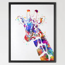 Giraffe Baby Decorations Nursery by Amazon Com Dignovel Studios 8x10 Giraffe Watercolor Print Animal