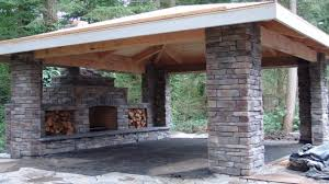 outdoor stone patios stone outdoor fireplace covered patio custom