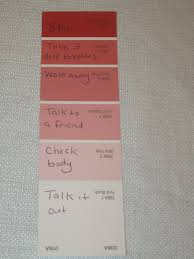 use color swatch for anger management i love that each one could