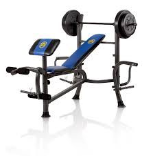 amazon com marcy opp bench and 80 pound weight set olympic