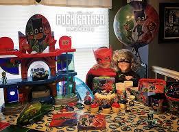 throw pj masks party national superhero birthday