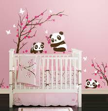autocollant chambre bébé stickers pour chambre bebe grande taille ours et arbre wall