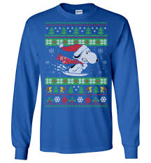 snow sled saucer snoopy sweater the wholesale t