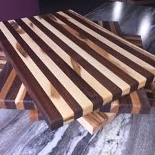 local handcrafted butcher block cutting boards walnut cherry