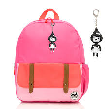 hot pink colour kid s junior backpack hot pink colour block junior backpacks kids