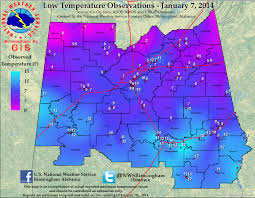 Oregon Temperature Map by Arctic Outbreak Of January 2014