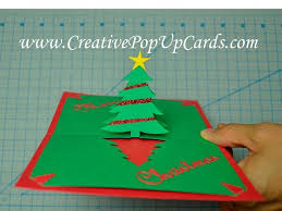 easy christmas tree pop up card tutorial youtube throughout 3d