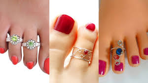toe rings images Designer toe rings designs gold plated fancy unique silver jpg