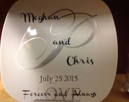 personalized wedding plate wedding plate etsy