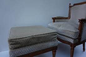 French Style Ottoman by Vintage French Louis Xvi Style Salon Armchairs With Ottoman For