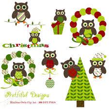 owl item christmas owl clip art for digital scrapbooking invitations