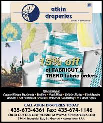deal of the day 15 percent off fabric orders at atkin draperies
