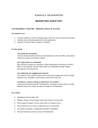 Assistant Marketing Manager Resume Sample by Marketing Assistant Job Description Sample 3 Resume Objective