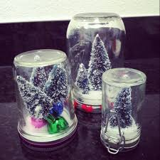 dining room easy handmse christmas glass jar snow globe craft