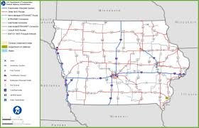 map us iowa iowa road map