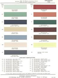1952 chevrolet body colors