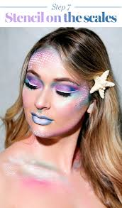mermaid makeup tutorial halloween 2017 the prettiest mermaid