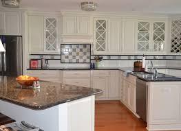 River White Granite White Cabinets Backsplash Ideas Pictures Of - Granite on white kitchen cabinets