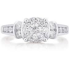 engagement ring walmart 1 carat t w 10kt white gold engagement ring