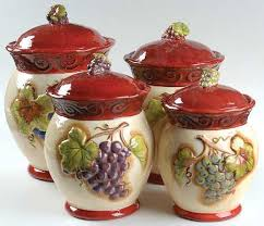 tuscan kitchen canisters certified int corp tuscan winery at replacements ltd