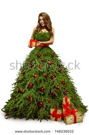fashion model tree dress stock photo 503665363