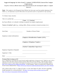 Employment Certification Letter Sample Visa Letter Of Employment Pdf