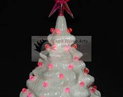 of pearl ceramic tree 7 in white clear lights