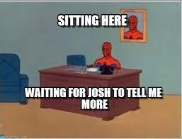 Spiderman Desk Meme - sitting here spiderman desk meme on memegen
