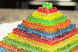 how to make gummy lego jello candy diy stackable jello gummy