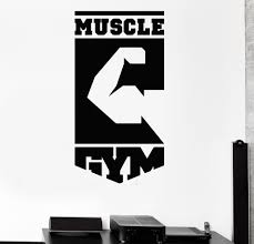 vinyl wall decal muscle gym logo fitness club sports stickers vinyl wall decal muscle gym logo fitness club sports stickers 333ig