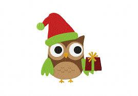owl christmas christmas present owl daily embroidery