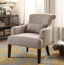 light brown accent chair homelegance reedley accent chair with 1 kidney pillow light brown