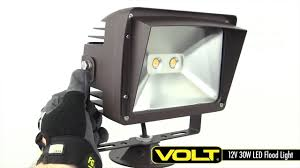 Landscape Flood Light by 12v 30w Led Flood Light W Yoke Mount Landscape Lighting Youtube