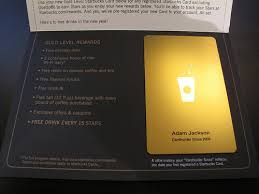 starbuck gold card the starbucks gold level rewards card a review adam s