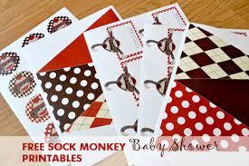 sock monkey baby shower invitation template u2013 diabetesmang info