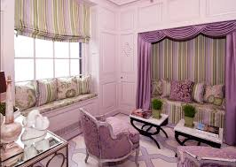 Bedroom Design Ideas With Bay Windows Bedroom Modern Purple Curtains With Decorative Cushions And Bay