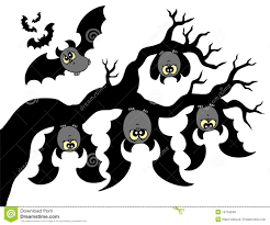 bat hanging upside down clipart collection