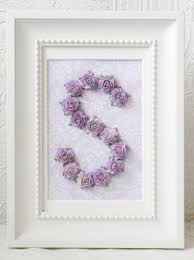 Nursery Chandelier Lavender Rose Personalized Initial Frame Vintage Lighting Kids