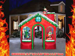 christmas inflatables outdoor christmas animated santas house walk through archway