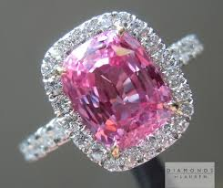 pink sapphire rings images Pink sapphire sapphire ring diamond halo ring jpg
